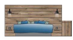 Beach Suite 2persoons lay-out 1